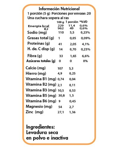 tabla nutricional levadura en polvo FINAL